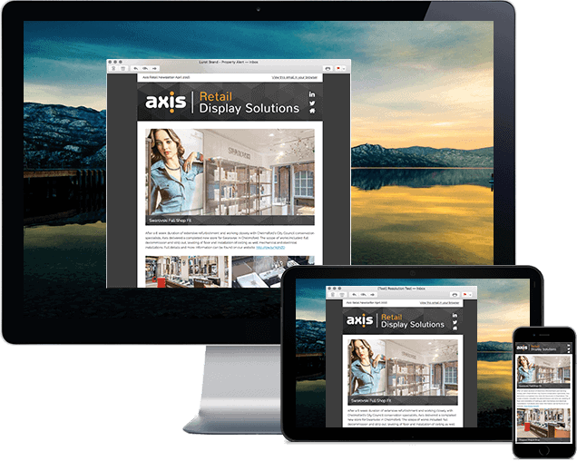 Axis Mailchimp Email Templates London