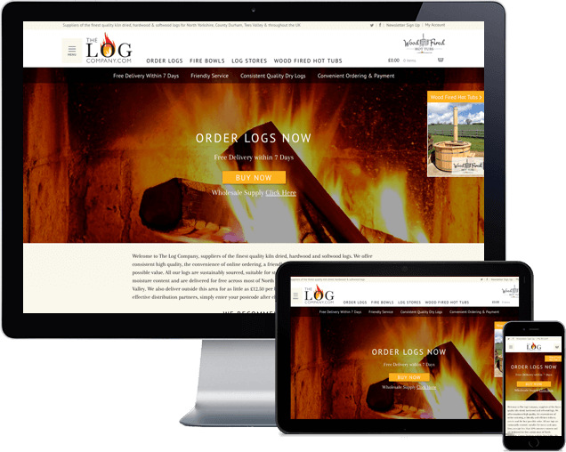 The Log Company E-commerce website