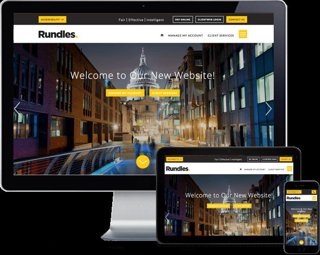 Rundles bespoke website redesign London
