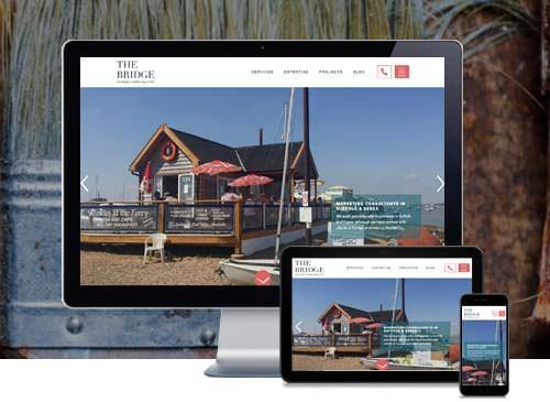 The Bridge Marketing custom Wordpress website