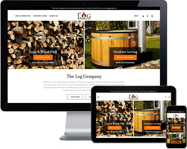 Woocommerce Redesign with SEO Retention For The Log Company